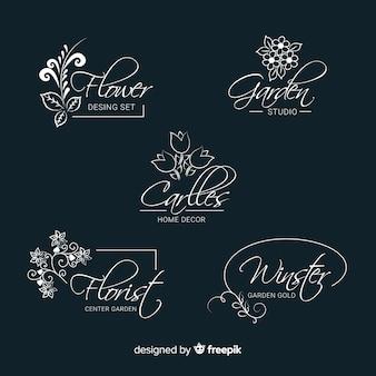 Bruiloft bloemist logo templates-collectie