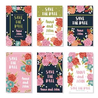Bruiloft boeket banners