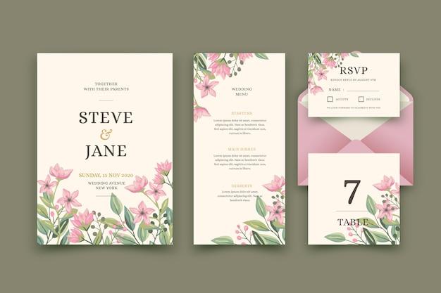 Bruiloft briefpapier concept