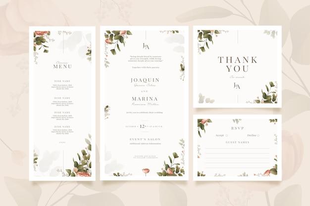 Bruiloft briefpapier set