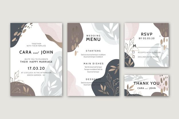 Bruiloft briefpapier sjabloon concept