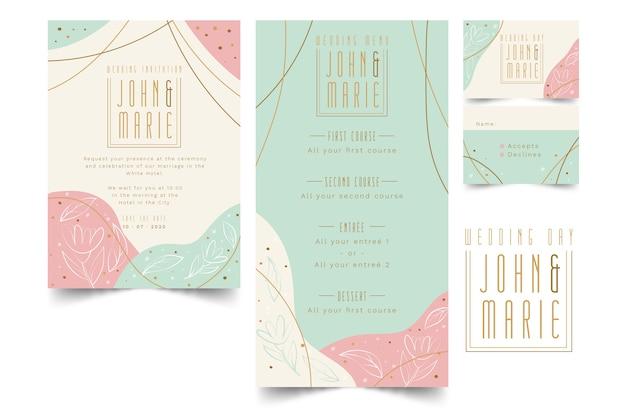 Bruiloft briefpapier sjabloon