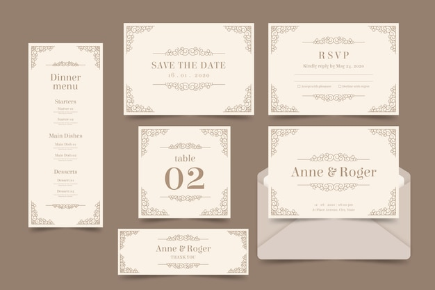 Bruiloft briefpapier