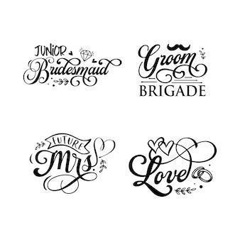 Bruiloft citaten typografie belettering voor tshirt ontwerp