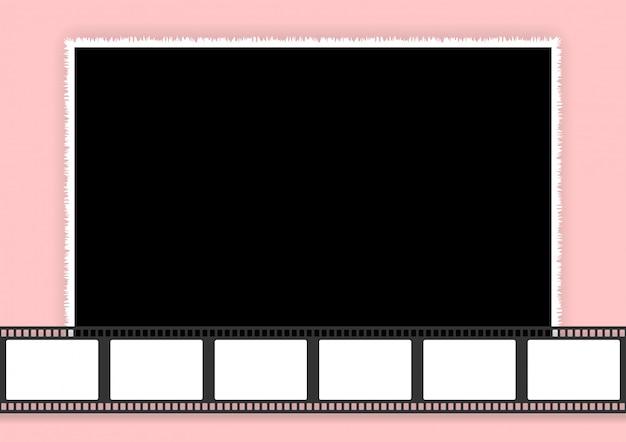 Bruiloft collage sjabloon voor fotolijsten en films