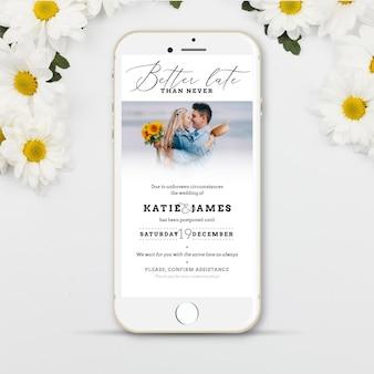 Bruiloft concept uitgesteld