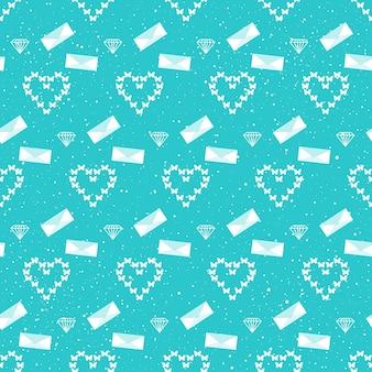 Bruiloft decor. bruids naadloze patroon achtergrond voor trouwkaart, uitnodiging, behang, album, plakboek, vakantie inpakpapier, textiel, kledingstuk, t-shirt enz