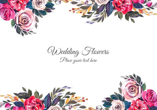 Bruiloft decoratief bloemenframe