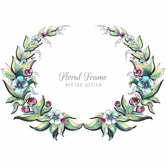 Bruiloft decoratieve bloemen frame achtergrond