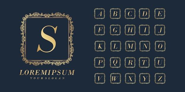 Bruiloft eerste alfabet gouden brief