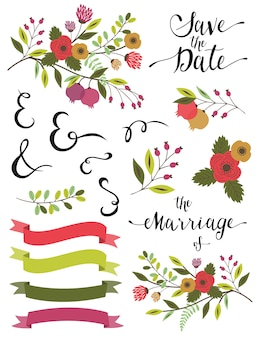 Bruiloft elementen.