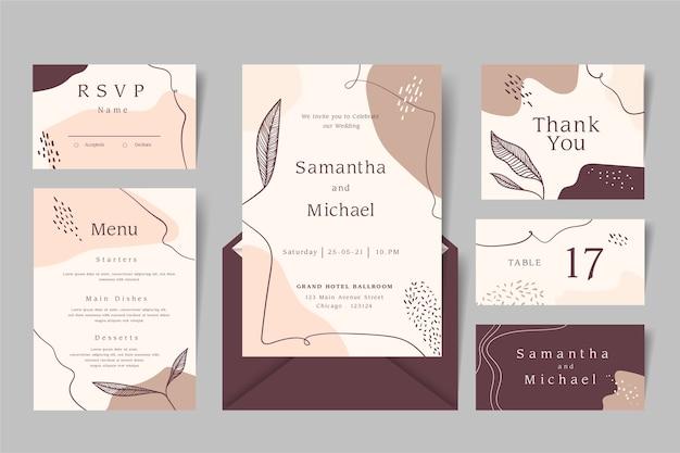 Bruiloft evenement briefpapier ontwerp