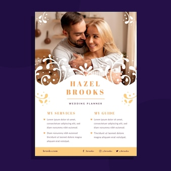Bruiloft folder sjabloon met foto