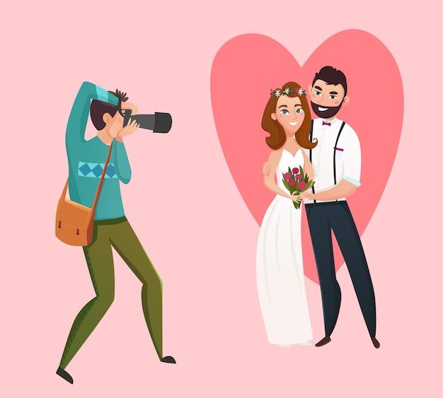 Bruiloft fotograaf ontwerpconcept