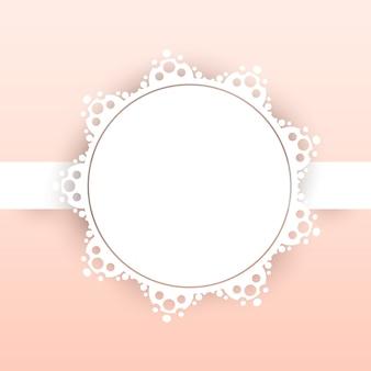 Bruiloft frame papier achtergrond