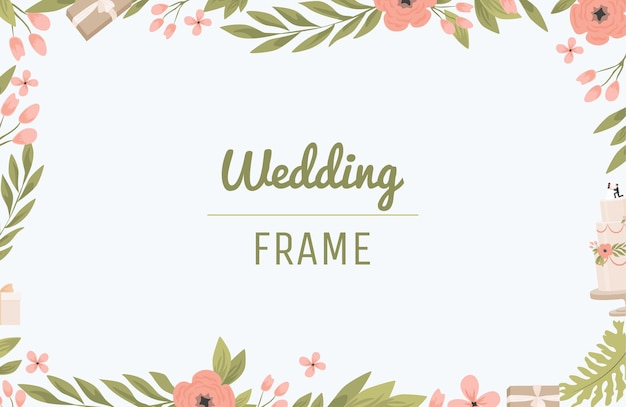 Bruiloft frame platte ontwerp rechthoekige rand