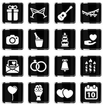 Bruiloft gewoon symbool voor webpictogrammen