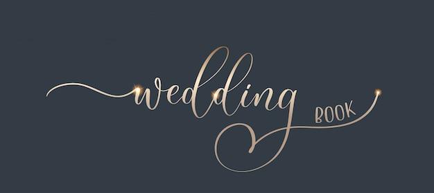 Bruiloft - gouden kalligrafische inscriptie