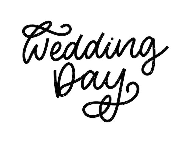 Bruiloft hand belettering