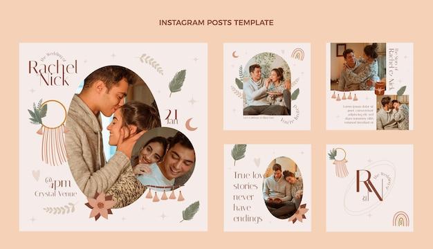 Bruiloft ig post ontwerpsjabloon