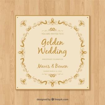 Bruiloft jubileum kaart uitnodiging
