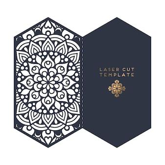 Bruiloft kaart laser gesneden sjabloon