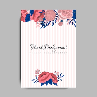 Bruiloft kaart met bloem roos