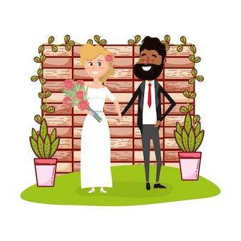 Bruiloft kaart ontwerp cartoon