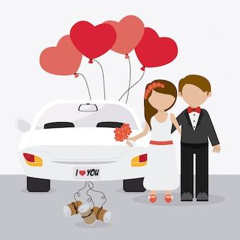 Bruiloft kaart ontwerp.