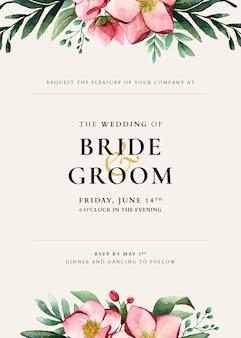 Bruiloft kaart sjabloonontwerp