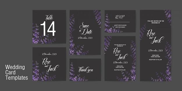 Bruiloft kaart uitnodiging sjabloon