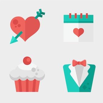 Bruiloft kaartelement