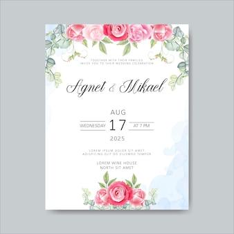 Bruiloft kaarten uitnodiging met prachtige bloemen