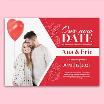 Bruiloft kaartstijl uitgesteld