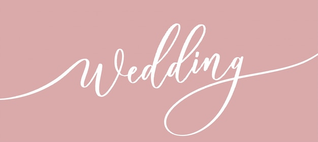 Bruiloft - kalligrafische inscriptie