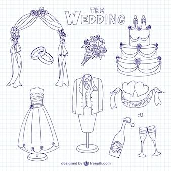 Bruiloft krabbels