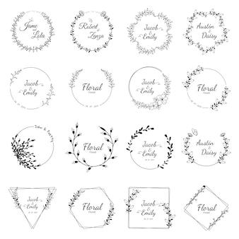 Bruiloft krans collectie voor bruiloft
