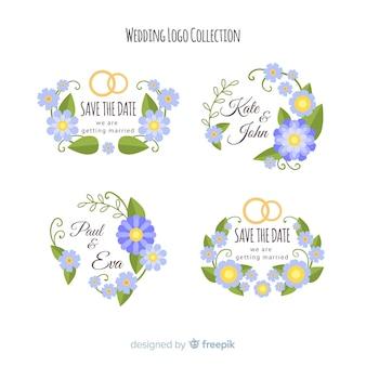 Bruiloft logo collectie