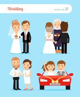 Bruiloft mensen