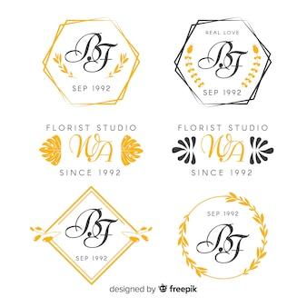 Bruiloft monogram logo's collectie