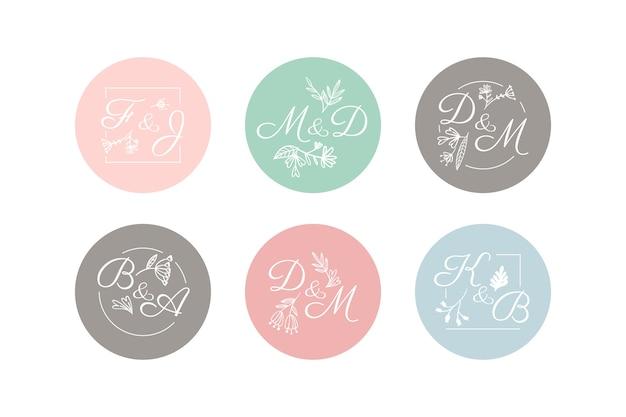 Bruiloft monogram pack