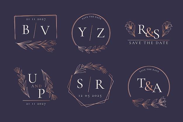 Bruiloft monogrammen collectie