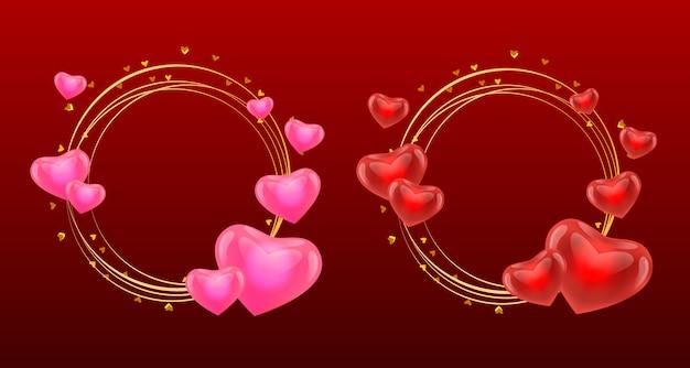 Bruiloft of valentijn ornamenten abstracte set