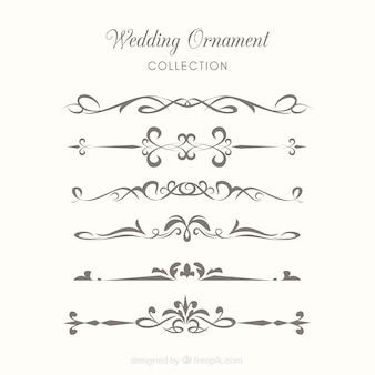 Bruiloft ornamenten collectie om te versieren