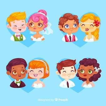 Bruiloft paar collectie