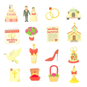 Bruiloft pictogrammen instellen