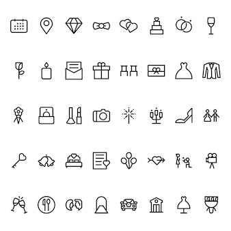 Bruiloft pictogrammen