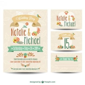 Bruiloft printables gratis set