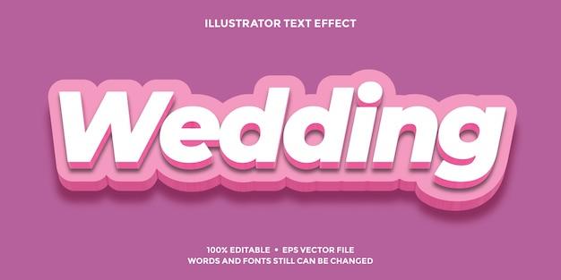 Bruiloft roze zachte teksteffect