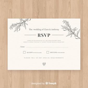 Bruiloft rsvp-kaart